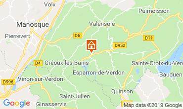 Mapa Gréoux Les Bains Casa rural 111014
