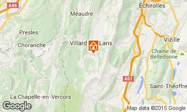 Mapa Villard de Lans - Corren�on en Vercors Estudio 88085