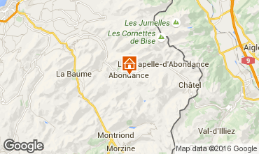 Mapa Abondance Chalet 74597