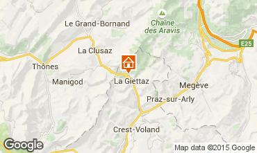 Mapa La Giettaz en Aravis Apartamento 68773