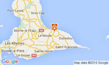 Mapa Le Moule Villa 100796
