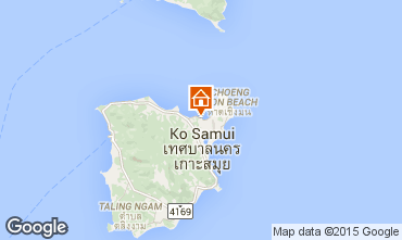 Mapa Bo Phut beach Villa 67145