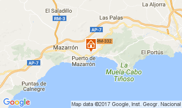 Mapa Puerto de Mazarrón Apartamento 112638