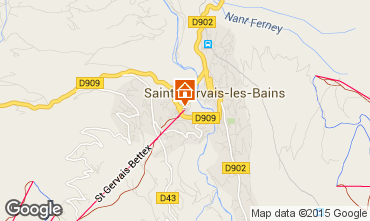 Mapa Saint Gervais Mont-Blanc Apartamento 59536