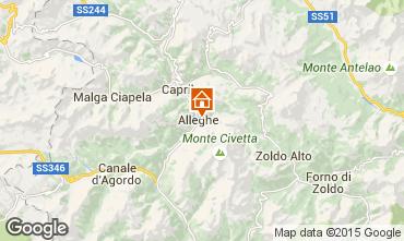 Mapa Alleghe Apartamento 55732