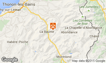 Mapa Drouzin Le Mont Apartamento 14521