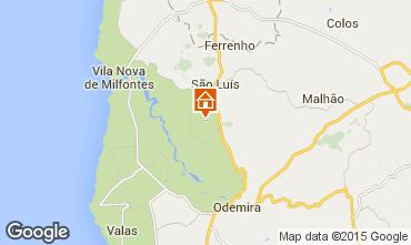 Mapa Vila nova de Milfontes Casa rural 55778