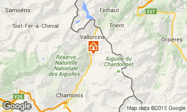 Mapa Chamonix Mont-Blanc Apartamento 28400