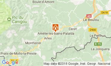 Mapa Am�lie-Les-Bains Apartamento 96364