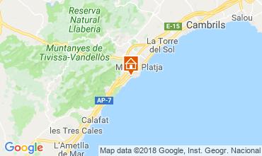 Mapa La Ametlla de Mar Villa 114454