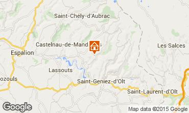 Mapa Laguiole Casa rural 87071