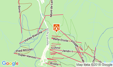 Mapa Les 2 Alpes Apartamento 116663