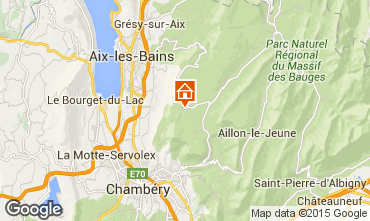 Mapa La Féclaz Chalet 65968
