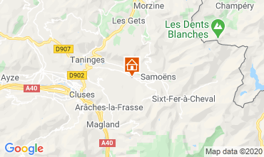 Mapa Morillon Grand Massif Chalet 40631