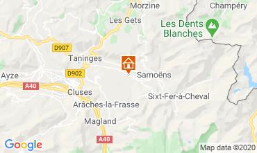 Mapa Morillon Grand Massif Chalet 40631
