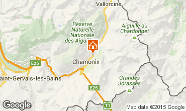 Mapa Chamonix Mont-Blanc Chalet 682