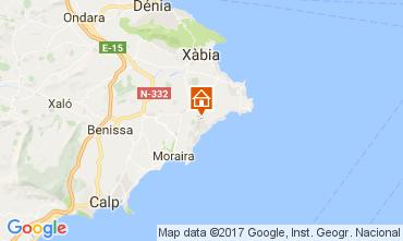 Mapa Moraira Villa 108971