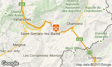 Mapa Chamonix Mont-Blanc Apartamento 63987