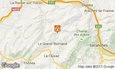Mapa Le Grand Bornand Apartamento 68126