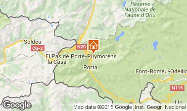 Mapa Port� Puymorens Apartamento 51437