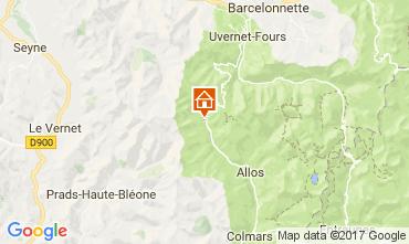 Mapa Val d'Allos Apartamento 50706