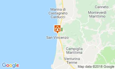 Mapa San Vincenzo Apartamento 117083