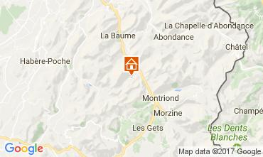 Mapa Saint Jean d'Aulps- La Grande Terche Chalet 100964