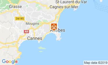 Mapa Juan les Pins Apartamento 116732
