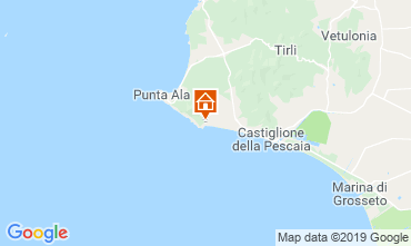 Mapa Castiglione della Pescaia Apartamento 89159