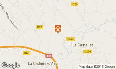 Mapa Le Castellet Villa 95709