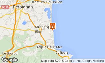 Mapa Saint Cyprien Plage Apartamento 60455