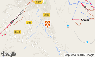 Mapa Saint Gervais Mont-Blanc Apartamento 59034