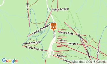 Mapa Les 2 Alpes Apartamento 111899