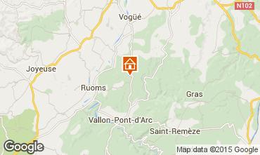 Mapa Vallon-Pont-D'Arc Casa 12027