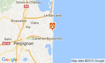 Mapa Sainte Marie la Mer Villa 80236