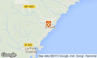Mapa Tossa de Mar Apartamento 81181