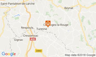 Mapa Brive-la-Gaillarde Casa 115407