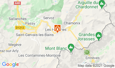 Mapa Chamonix Mont-Blanc Chalet 1412