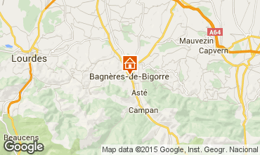 Mapa Bagn�res de Bigorre Estudio 4975