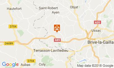Mapa Brive-la-Gaillarde Casa rural 113617
