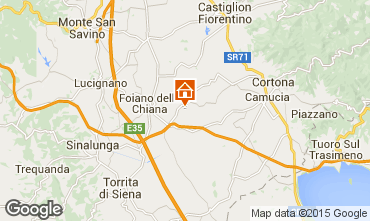 Mapa Cortona Casa rural 14779