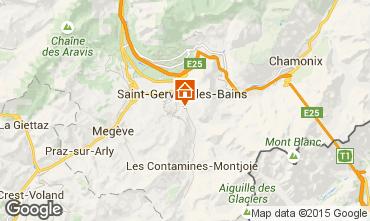 Mapa Saint Gervais Mont-Blanc Apartamento 58587