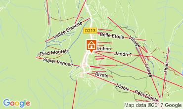 Mapa Les 2 Alpes Estudio 82617