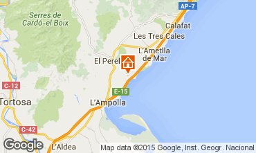 Mapa La Ametlla de Mar Chalet 102063