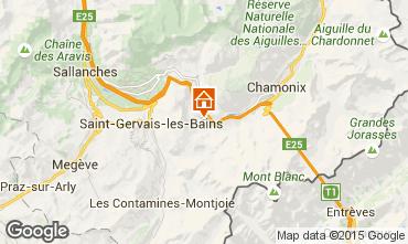 Mapa Chamonix Mont-Blanc Chalet 686