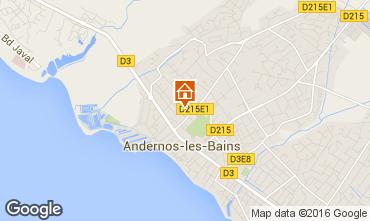 Mapa Andernos les Bains Casa 55736