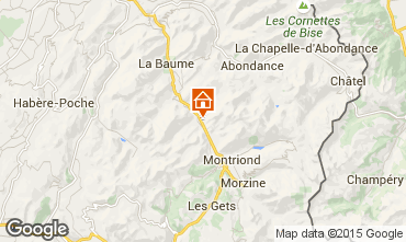 Mapa Morzine Chalet 1952