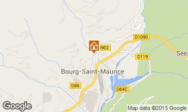Mapa Bourg saint Maurice Apartamento 81054