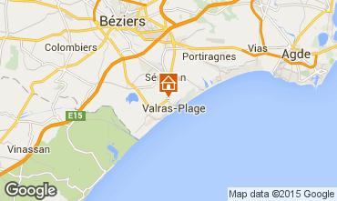 Mapa Valras-Plage Mobil home 95160