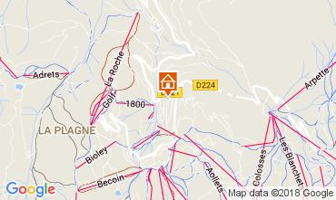 Mapa La Plagne Apartamento 112637